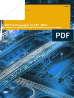 SAP File Processing for SAP HANA En