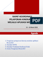 Sosialisasi MonevKU 2018