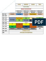 grade 1 time table