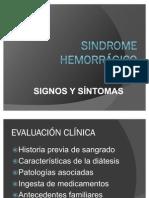 SINDROME HEMORRÁGICO