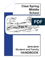 2018-19 clear spring middle handbook - finaltoprint