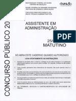 PROVA DE CONCURSO - ASSISTENTE ADMINISTRATIVO