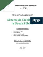 Sistema de Crédito y de La Deuda Pública