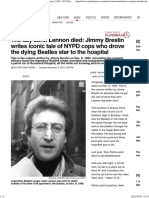 Jimmy Breslin Tells of Cops Who Aided John Lennon in 1980