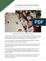 18-08-2018 - Iniciará DIF Sonora programa de Desayunos Escolares - opinionsonora