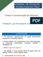 40451-Aulas de Sintese e Caracterização de Polímeros