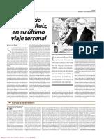 Ultimo Viaje Terrenal de Florencio Martínez Ruiz