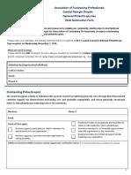 2018 AFP NPD Nominee Form