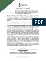 Comunicado Cámara de Comercio Venezolana Americana de los Estados Unidos
