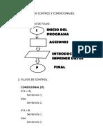 Estructuras de Control y Condicionales