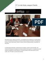24-08-2048 - Cuenta pública 2017 la más limpia asegura Claudia - dossierpolitico