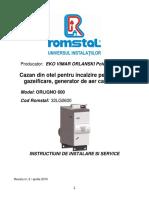ORLIGNO600rev2 Instalare,Service