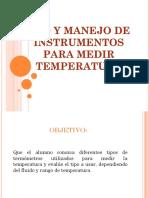 Uso y Manejo de Instrumentos Para Medir Temperatura