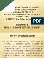 Tema No 4 Divisiones Del Derecho