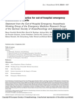 Recommended Practice for Out-Of-hospital Emergency Anesthesia (2016)