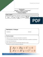Evaluación sistema de ecuaciones