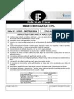 Prova Concurso IF-RN Engenheiro Civil