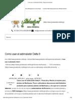Como Usar El Estimulador Delta 9 - Blog de Grow Barato
