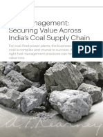 Fuel Management--Securing Value Across Indias Coal Supply Chain