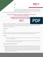 Convocatoria Projuventudes 2017-1