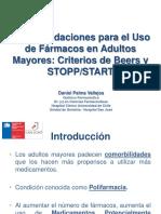 Q.F. Daniel Palma Vallejos Recomendaciones Para El Uso de Fármacos en Adultos Mayores Criterios de Beers y STOPPSTART
