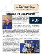 August 2018 Alumni Newsletter