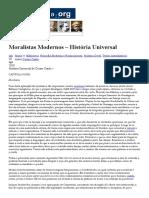 Moralistas Modernos – História Universal