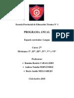 Programa 2do EPET N° 1