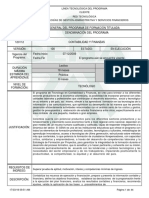 1. Programa Contabilidad y Finanzas