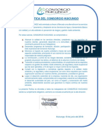 1. Política Del Consorcio Huicungo