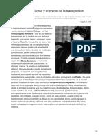 Federico García Lorca y El Precio de La Transgresión Poética