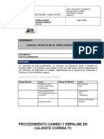 P-RTT-CMLB-007 Cambio y Empalme en Caliente Correa 7C