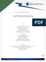 Coal pulverizer explosions