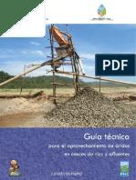 Guía técnica para el aprovechamiento de áridos en cauces de ríos y afluentes