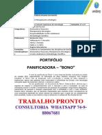 """Portfólio Planejamento Estratégico panificadoras """"Bono"""".docx"""