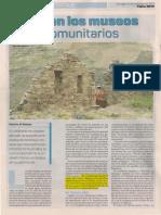 Nacen los Museos Comunitarios en Bolivia