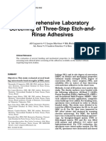 Evaluation of Three-Step Etch-And-Rinse Adhesives