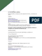 Ley Nacional 25877 (Ley de Reforma Laboral)