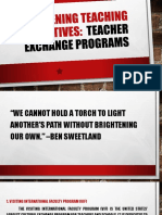 Broadening Teaching Perspectives - Teacher Exchange Programs