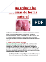 Cómo Reducir Los Fibromas de Forma Natural
