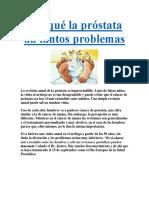 Por Qué La Próstata Da Tantos Problemas