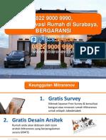 BERKUALITAS, 0822 9000 9990, Jasa Renovasi Rumah Di Surabaya
