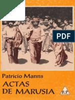 Actas de Marusia Patricio Manns
