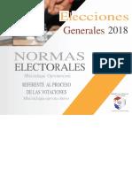 Normas Electorales Elecciones Generales 2018