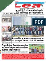 Periódico Lea Martes 28 de Agosto Del 2018