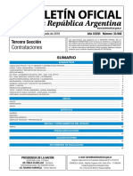 Licitations republic of arentina 08/2018