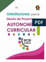 Orientaciones Proyectos Autonomia Curricular