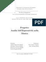 Analisi dell'espressività nella musica (Benacchio, Cassano, Locascio, Paganin)