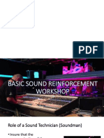 Basic Sound Reinforcement Workshop