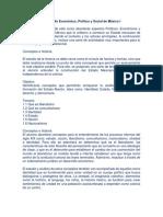 Desarrollo Económico, Político y Social de México I